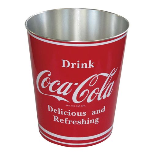 Coca Cola Trash Can Have E And