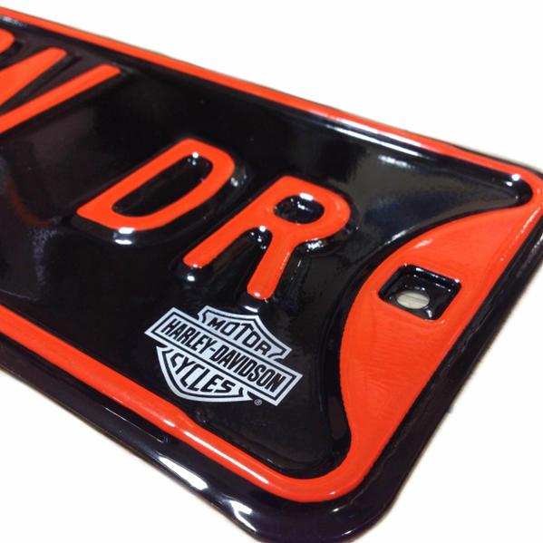 Harley-Davidson招牌金屬簽名銘牌Harley Davidson Dr Street Sign壓花加工美國的雜貨Harley-Davidson商品美國雜貨世田谷基礎