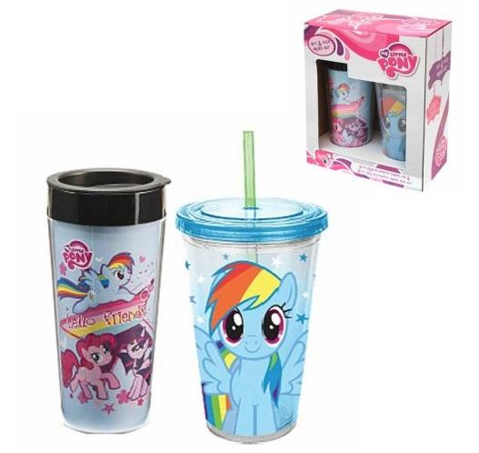 我的小矮種馬大玻璃杯安排水壺禮物禮物水瓶大玻璃杯My Little Pony商品