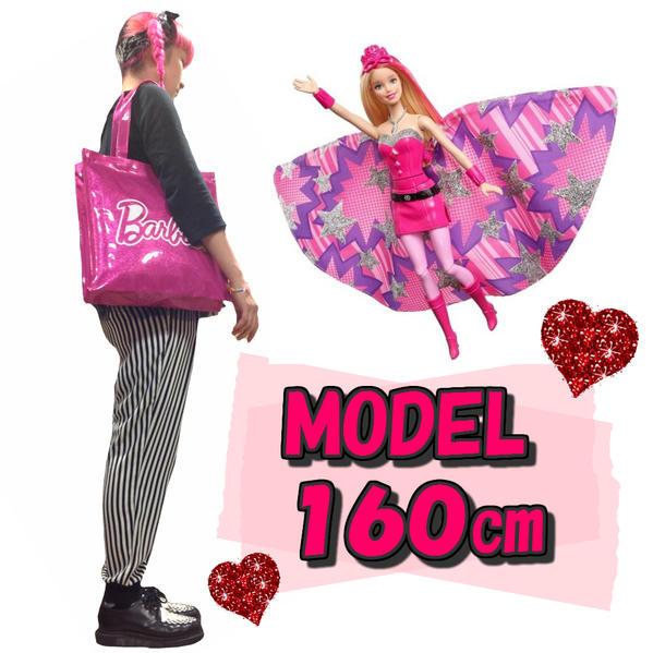 芭比娃娃乙烯手提袋芭比娃娃袋手提袋搪瓷瘸腿禮物游泳池袋游泳粉紅女孩玩具兒童成人女士