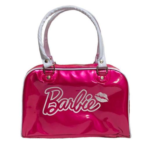 バービー ビニール ミニ ボストンバッグ (フューシャピンク) ハンドバッグ バッグ かばん Barbie サブバッグ プールバッグ 水泳 子供用 大人用 女の子 グッズ トート 手提げ 雑貨 ピンク プレゼント ギフト