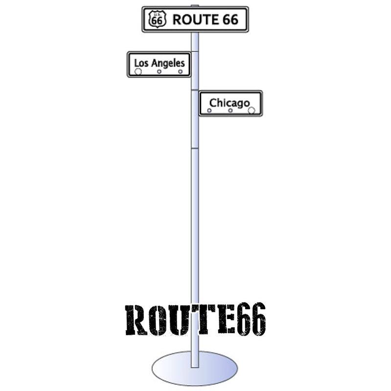 アメリカン ストリートサイン コートハンガー ルート66 Route66 プレート 看板 標識 サイン アメリカン雑貨 アメリカ 雑貨 インテリア 収納 世田谷ベース グッズ