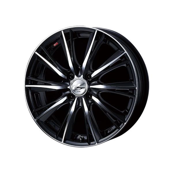 レオニス WX 15インチタイヤアルミホイール 4本セット HANKOOKタイヤ 「アルミホイール シルバー ブラック ミラーカット」 「送料無料」