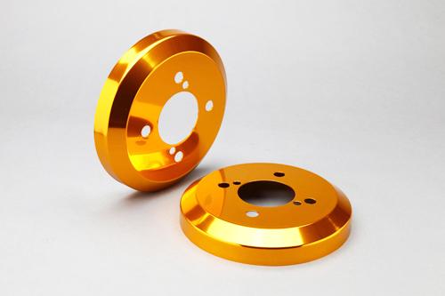 ハイゼット カーゴ S320G/S330G S321G/S331G アルミ ハブ/ドラムカバー リアのみ カラー:ゴールド シルクロード