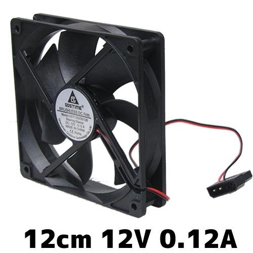 大人気 当日発送 廉価なPCファン 本日限定 12cm 0.12A DC12V 汎用DCファン