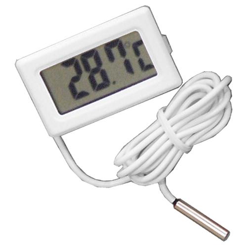 卓抜 完売 当日発送 メール便発送可能 わかりやすいデジタル表示 デジタル温度計 ホワイト 電子工作 外部センサー式 小型温度計