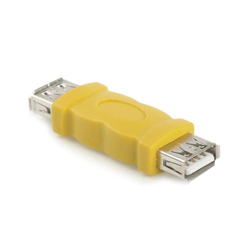 当日発送 メール便発送可能 USBケーブルの延長に USB延長アダプタ 新登場 メス イエロー 秀逸 Aタイプ バルク品