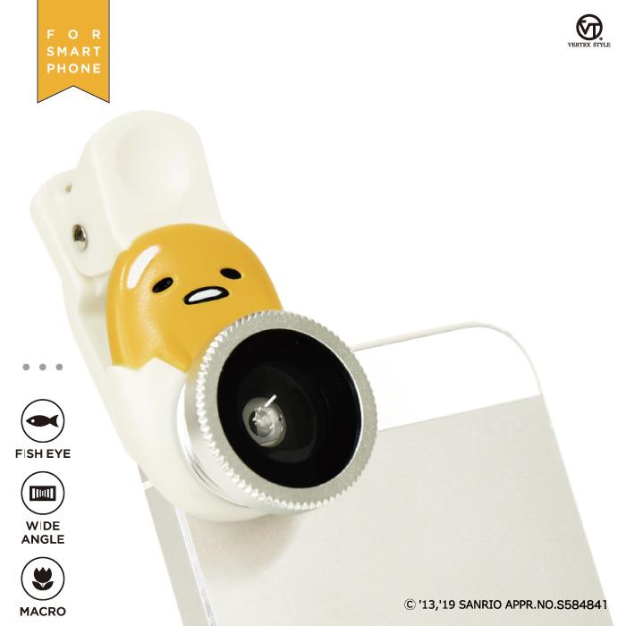 セルカレンズ かわいい キティ マイメロ ぐでたま サンリオキャラクターズ メール便送料無料 サンリオセルカレンズ SANRIO スマホ用 マクロ 希少 広角 魚眼 3種類セット ※ラッピング ※ iPhone クリップ型 android 自撮り 3in1