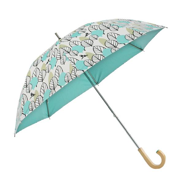 コルコ ショートスライド式 全5柄 長傘 手開き 日傘/晴雨兼用 デュオ 8本骨 50cm