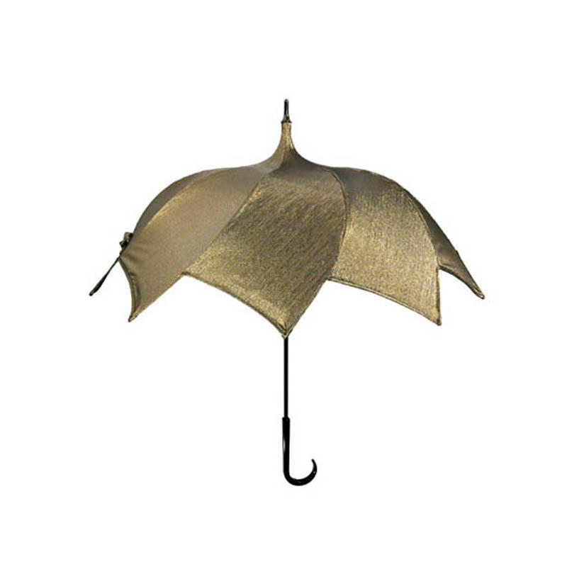 長傘 手開き 晴雨兼用傘 ユニセックス DiCesare Designs ディチェザレ デザイン SPIRAL GOLD JACQUARD