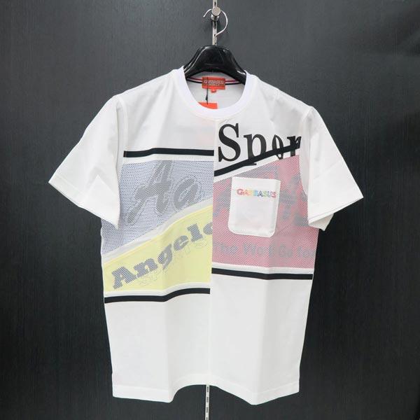 2019年夏モデル  アンジェロガルバス 半袖Tシャツ 白 L/LL 91-2506-03-01 ANGELO GARBASUS