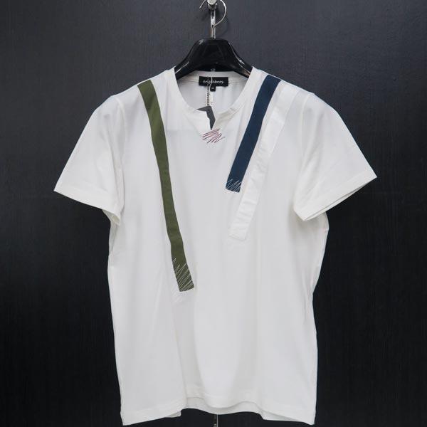 アンジーブロス 半袖キーネックTシャツ 白 50(LLサイズ) 01-2503-02-01