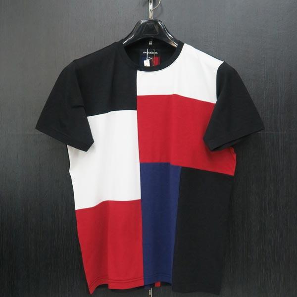 アンジーブロス 半袖Tシャツ 黒 52(3Lサイズ) 01-2504-02-05