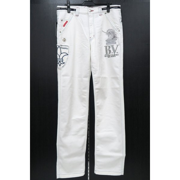 バーニヴァーノ 5ポケットジーンズ 白 82-100cm BSS-HJZ2880-02 BARNI VARNO