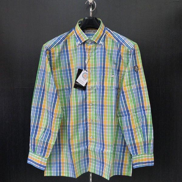 バーニヴァーノ 長袖ボタンダウンシャツ M-LL BYG-ESN311-01 BARNI VARNO