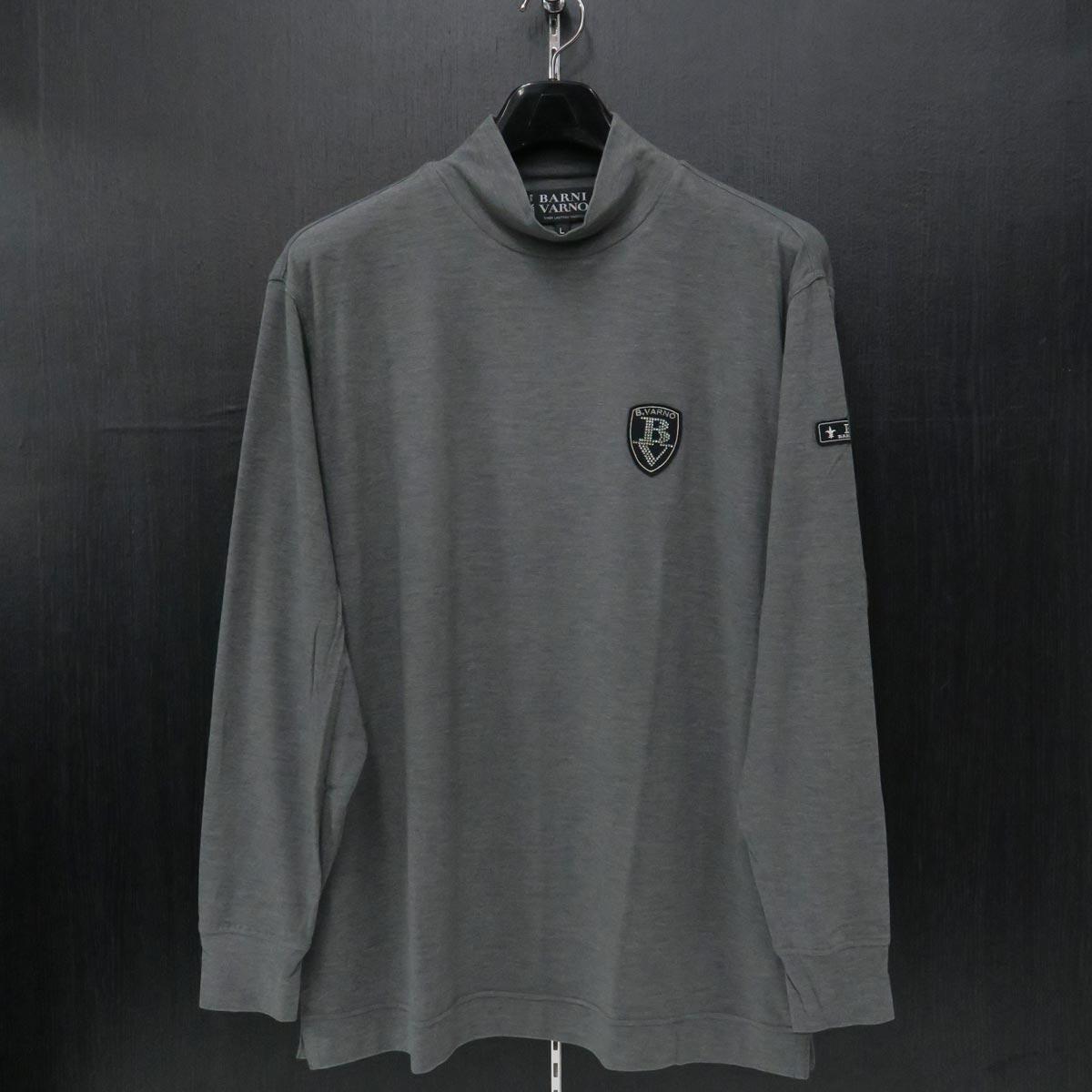 バーニヴァーノ ハイネックTシャツ グレー Lサイズ BAW-IST3458-05
