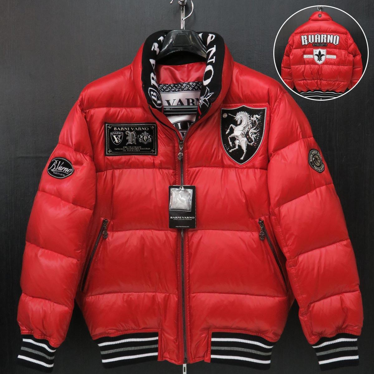 バーニヴァーノ ユニコーンダウンジャケット 赤 M/Lサイズ BAW-IDB3406-45