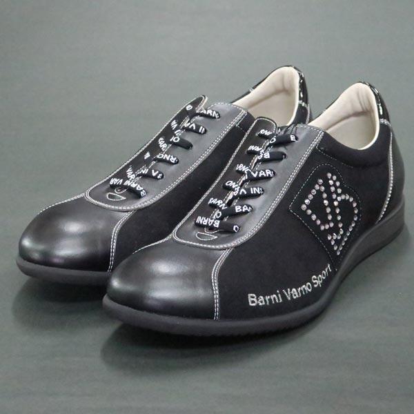 バーニヴァーノ スニーカー 黒 BAW-IKS3496-09