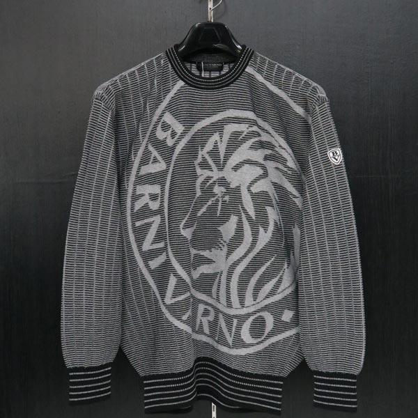 バーニヴァーノ ライオンジャガードセーター 黒 L BSS-JSW3607-09