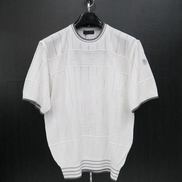 バーニヴァーノ 半袖セーター 白 LL BSS-JSW3616-01