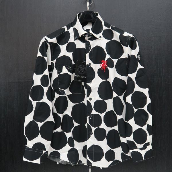 バーニヴァーノ ボタンダウンシャツ M BSS-JSN3695-09