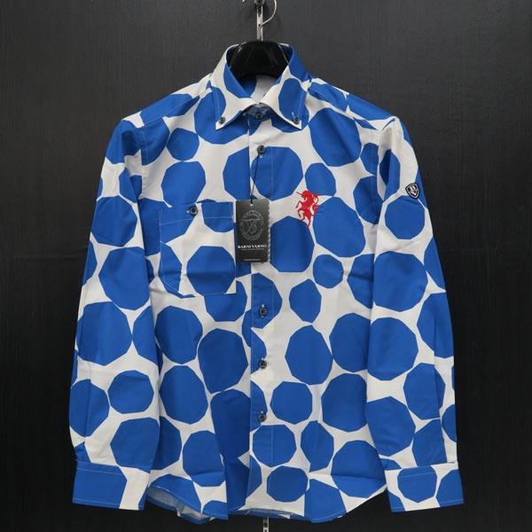 バーニヴァーノ ボタンダウンシャツ M BSS-JSN3695-63