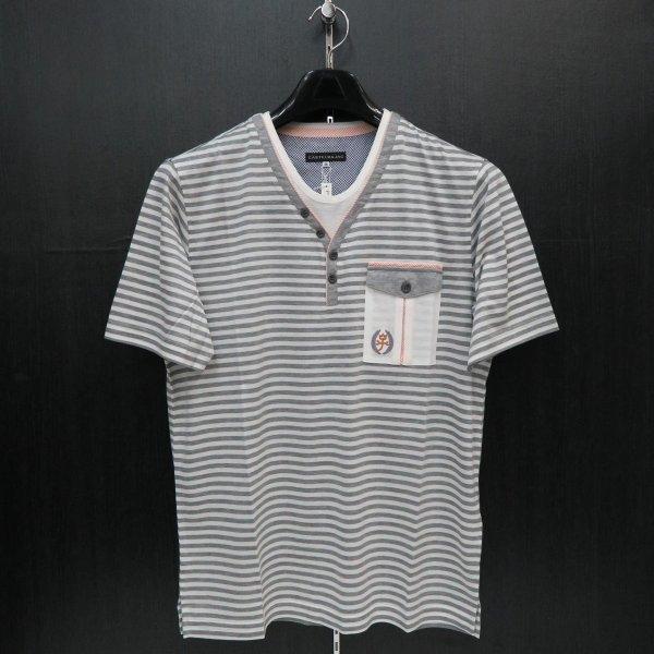 カステルバジャック 半袖Tシャツ グレー 48サイズ 21370-125-92 castelbajac