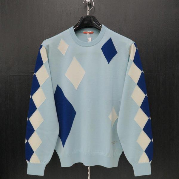 カステルバジャック 丸首セーター 水色 48/50サイズ 23880-301-53