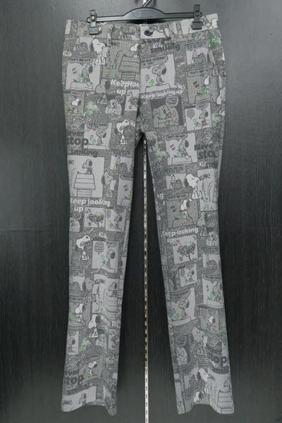 カステルバジャック スヌーピープリントストレッチパンツ 82-97cm 23450-101-99