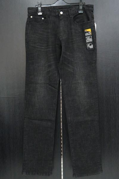 カステルバジャック スヌーピー刺繍ストレッチジーンズ黒 82-103cm 21450-101-99