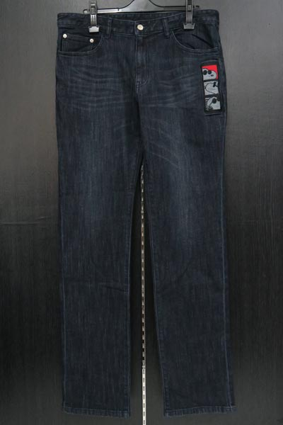 カステルバジャック スヌーピー刺繍ストレッチジーンズ 紺 82-100cm 21450-101-59