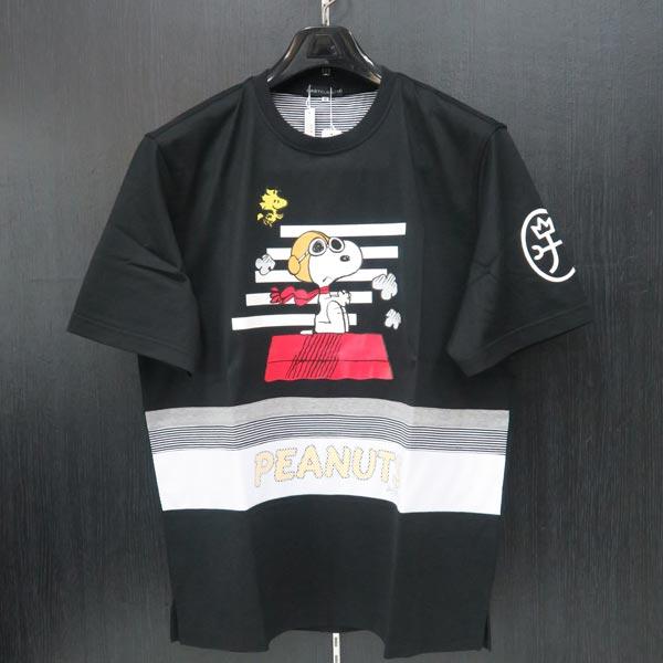 カステルバジャック スヌーピー 半袖Tシャツ 黒 48/50 21570-102-99