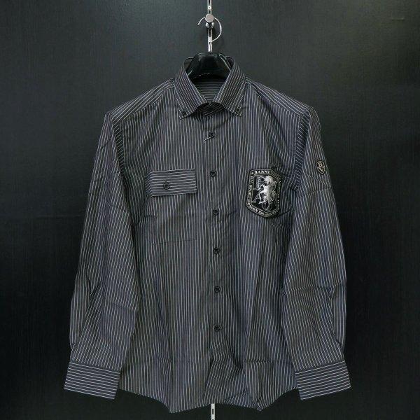 バーニヴァーノ 長袖ボタンダウンシャツ M-Lサイズ BAW-FSN2251-09