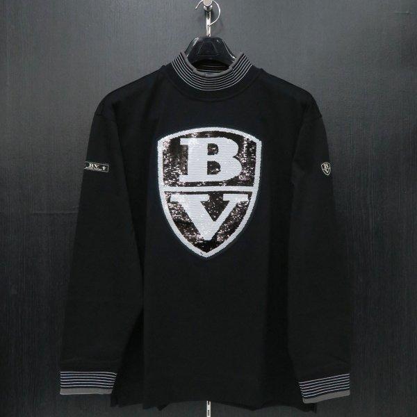 バーニヴァーノ 長袖Tシャツ 黒 M/Lサイズ BAW-HST3054-09