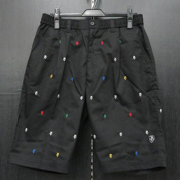 バーニヴァーノ ショートパンツ 黒 Lサイズ BSS-ITPH3297-90