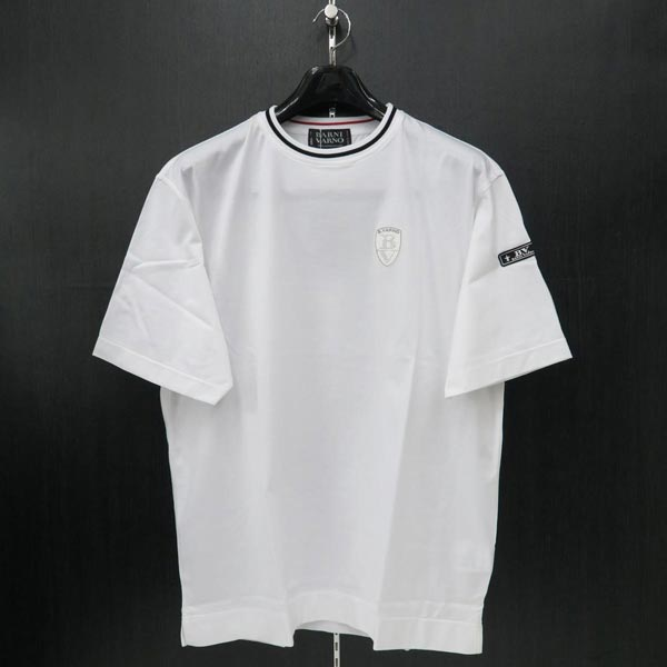 バーニヴァーノ 半袖Tシャツ 白 LL BSS-ITH3240-01 BARNI VARNO 夏物