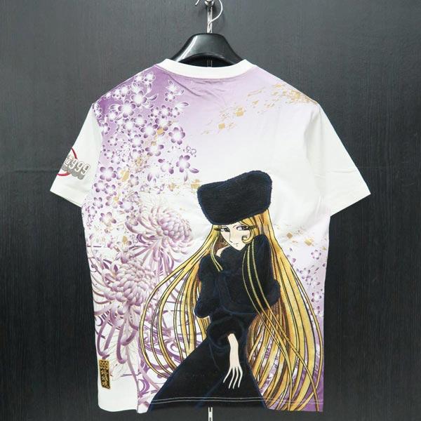 絡繰魂 銀河鉄道999コラボ メーテル刺繍Tシャツ カラクリタマシイ 白 292001-10