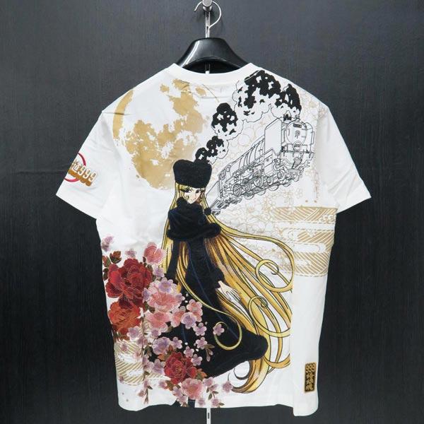 絡繰魂 銀河鉄道999コラボ メーテル刺繍Tシャツ カラクリタマシイ 白 292002-10