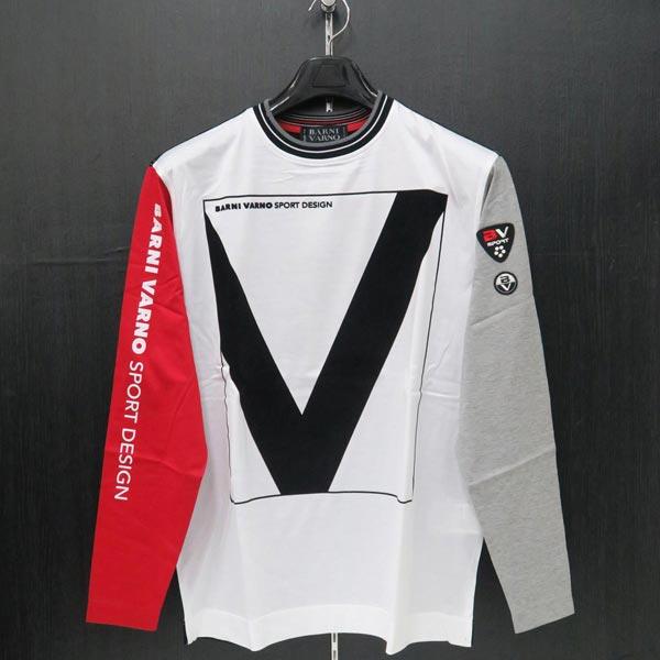 バーニヴァーノ 長袖Tシャツ M/Lサイズ BSS-ITN3221-45 BARNI VARNO