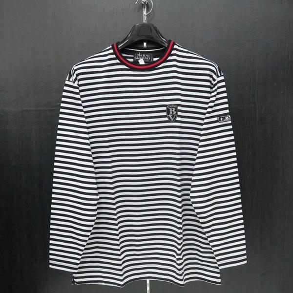 バーニヴァーノ 長袖Tシャツ M/Lサイズ BSS-ITN3241-91 BARNI VARNO