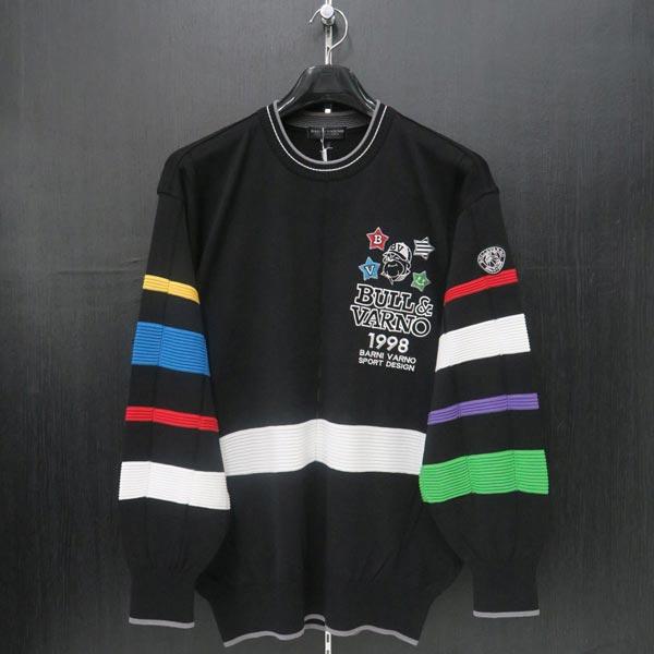 バーニヴァーノ 長袖セーター 黒 LLサイズ BSS-ISW3208-09 BARNI VARNO ニット 春物