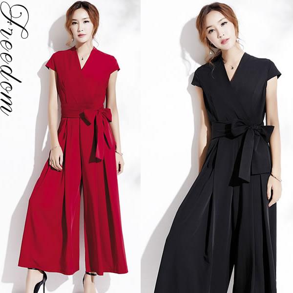 ac31b59c4e8cb パーティードレス パンツスーツ パンツドレス セレモニー スーツ フォーマル Mサイズ Lサイズ 2Lサイズ ビッグ