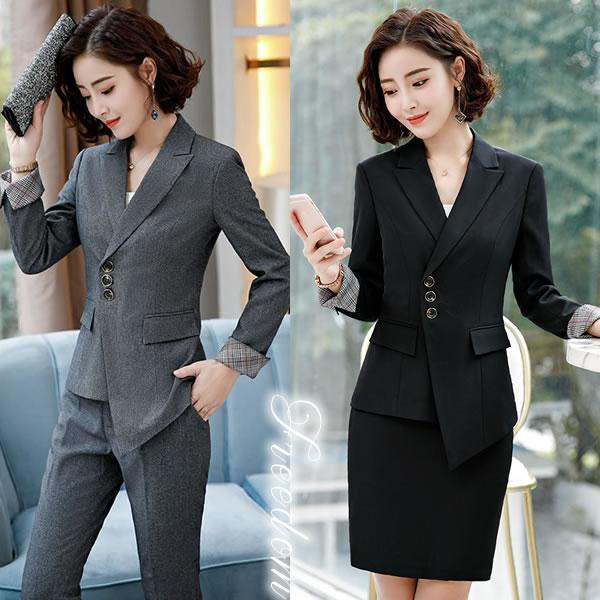 844bd5d389034 ビッグサイズ フォーマルスーツ OLスーツ リクルートスーツ ビジネススーツ 女性用スーツ OL通勤スーツ
