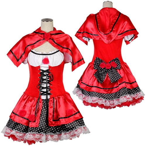 Little Red Riding Hood mini-length dress ★ medium size sale sale of costume  play sexy uniform clothes party event Halloween costume play Halloween