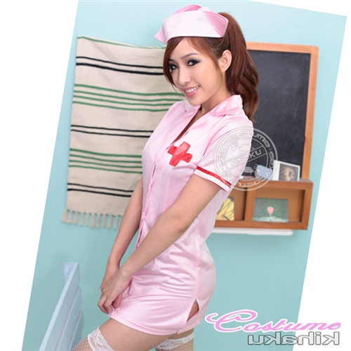 a0d8c3a6d99d5 □□Costume play fashion□□ Nurse clothes! ☆背中魅 せで sex appeal ムンムン! It is the nurse  costume that Bucks tile is sexy♪