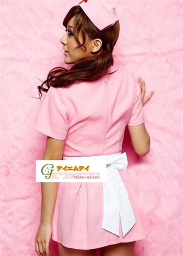 287daa86d394 ☆It is the nurse costume which eroticism sexy can dress well at pink & mini-length  cutely♪