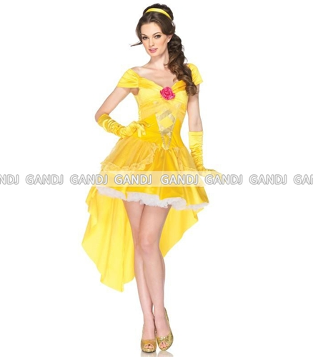 Princess Party Costume! ☆ Bright Shining Gold Dress! This Is Also Cute Sexy  Princess Princess Costume!