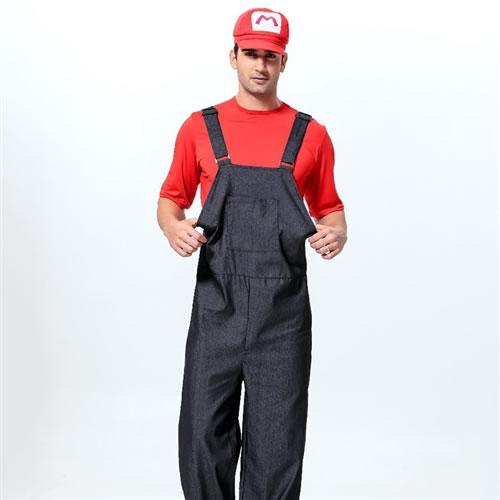 Red T u0026 denim all in a classic costume! Mario menu0027s costume!  sc 1 st  Rakuten & w-freedom   Rakuten Global Market: Deluxe Halloween cheap super ...