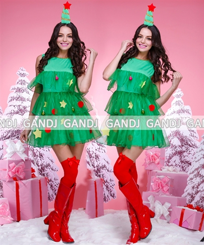 W freedom rakuten global market a frill is gradually pretty super yourself become the christmas tree it is the christmas tree costume which is the cute sexy who gradually has a cute frill solutioingenieria Image collections