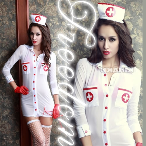 6722b630dbb33 □□Costume play fashion□□ Angel sexy nurse clothes of healing! ☆It is the nurse  costume set which the strongest sexy can dress well with cloth with the ...